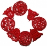 Červené háčkované vianočné ozdoby sada 8 kusov