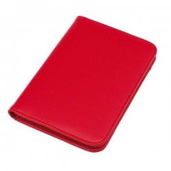 Červený poznámkový blok s kalkulačkou