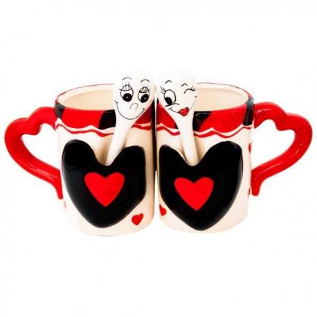 HEART hrnčeky s lyžičkami