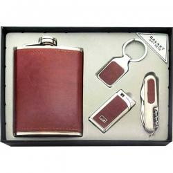 Značková ploskačka, prívesok na kľúče, zapaľovač, nôž darčekové balenie