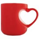 Valentínsky keramický hrnček v tvare srdiečka