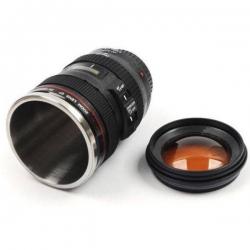Termohrnček foto objektív uzatvárateľný