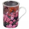 Kvetinový hrnček na čaj so sitkom