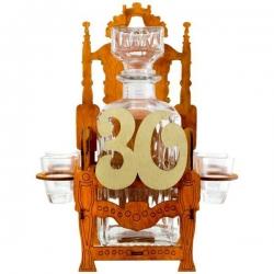Darček na 30 - trón so sklenenou fľašou a pohárikmi