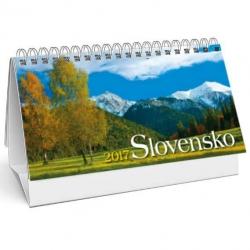 Stolový kalendár Slovensko 2017 stĺpcové