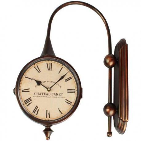 Veľké retro obojstranné hodiny