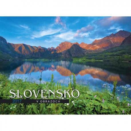 kalendar slovensko Nástenný mesačný kalendár Slovensko v obrazoch 2017 kalendar slovensko