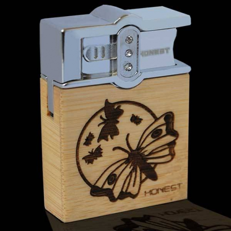 Luxusný drevený zapaľovač Honest Flying butterfly