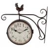 Staničné hodiny obojstranné s kohútom