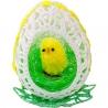 Háčkované veľkonočné vajíčko s kuriatkom