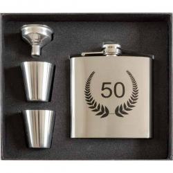 Darček na 50-tku pre muža - ploskačka s pohárikmi