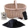 Hubárska výbava - košík, nôž, zaostrovadlo, klobúk