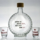 Vtipná fľaša s pohárikmi - Lepšie za jeden ráno ako celý deň nič