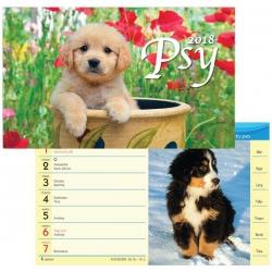 Stolový týždňový kalendár Psy 2018