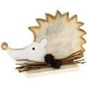 Drevený ježko - jesenná dekorácia