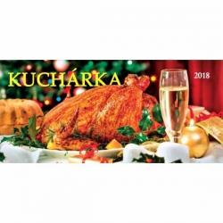 Stolový riadkový kalendár Kuchárka 2018