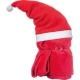 Vianočná deka s Mikulášom zložená 39 x 14 cm