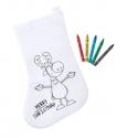 Mikulášska ponožka na vymaľovanie s farbičkami