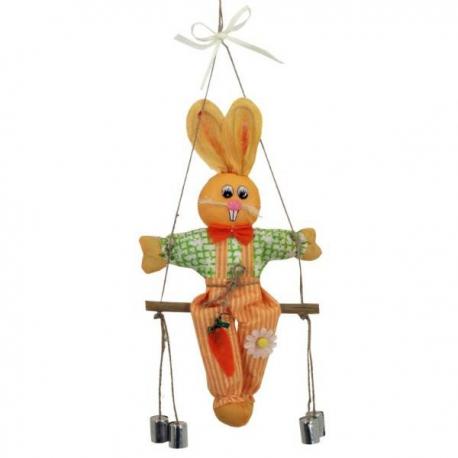 Veselý zajko na hojdačke 50 cm