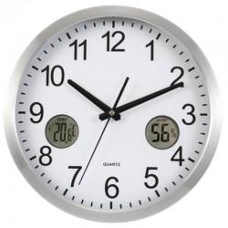Luxusné hodiny s digitálnym teplomerom a vlhkomerom