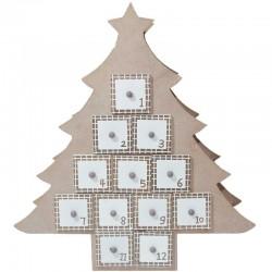 Adventný kalendár pre deti stromček od 1 -do 12