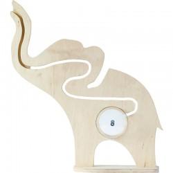 Drevený slon - pokladnička s bludiskom