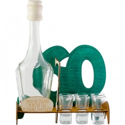 Darček na šesťdesiatku  fľaša, poháre