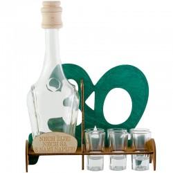 Darček na tridsiatku fľaša s pohármi