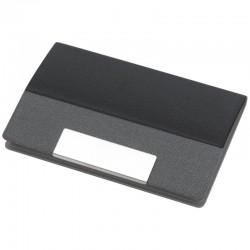 Kovové puzdro na vizitky čierno šedá kombinácia