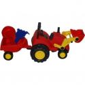 Červený traktor do piesku