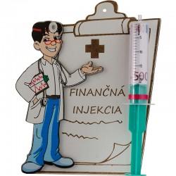 Finančná injekcia muž - darujte peniaze štýlovo