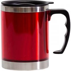 Červený termohrnček s vrchnákom 400 ml