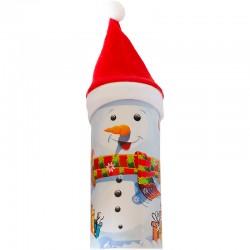 Pokladnička snehuliak so sladkosťami na Mikuláša