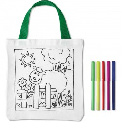 Malá taška pre deti na vymaľovanie