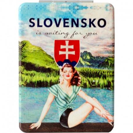 Retro zrkadielko do kabelky Slovakia