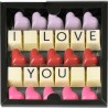 Čokoládové I LOVE YOU na Valentína