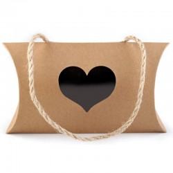Darčeková taška so srdiečkom