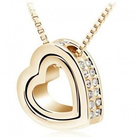 Nádherný náhrdelník srdiečko s kamienkami