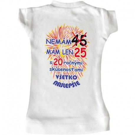 Tričko na fľašu na 45 narodeniny