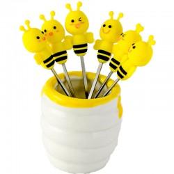 Vidličky včielky na párty