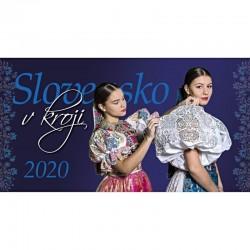 Stolový kalendár Slovensko v kroji 2020