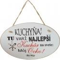 Dekoračná tabuľka s nápisom pre ocka