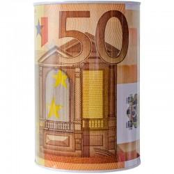 Plechová euro pokladnička 50 EUR