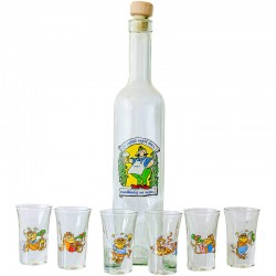 Humorná fľaša Čo môžeš vypiť dnes neodkladaj na zajtra s pohármi