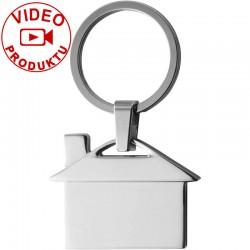 Strieborný prívesok na kľúče v tvare domu