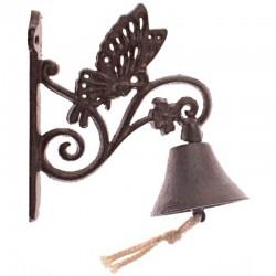 Kovový zvonček na dvere s motýľom