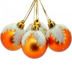 Sada vianočných gúľ fosforeskujúca