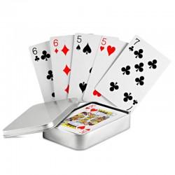Hracie karty v kovovej krabičke