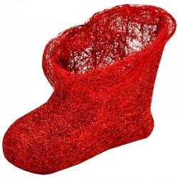 Červená Mikulášska čižma pre deti