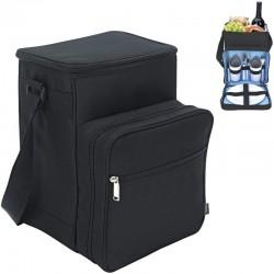 Čierny piknikový batoh pre dve osoby